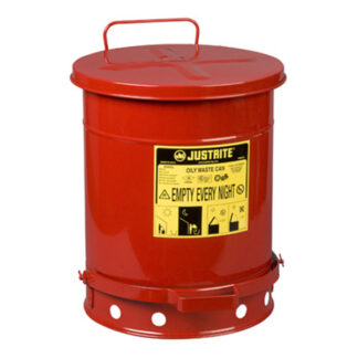 Oily Waste Can, 10 gallon (34L), foot-operated self-closing