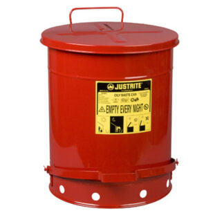 Oily Waste Can, 14 gallon (52L), foot-operated self-closing