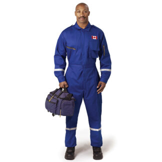 man in blue coverall