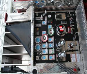 controls in truck