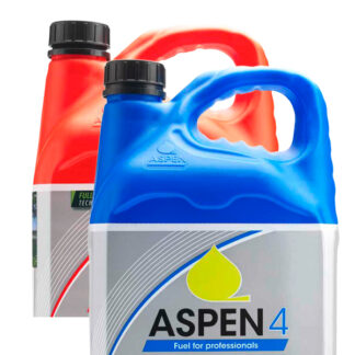 blue and red jugs labelled Aspen
