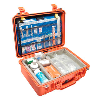 case with supplies
